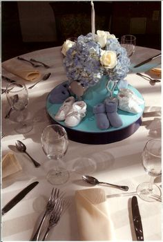 Christening centerpiece  The Event Of A Lifetime, Inc.