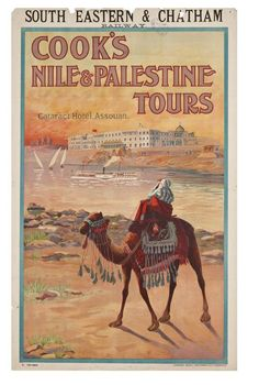 South Eastern & Chatham Railway. Cook's Nile & Palestine Tours. Cataract Hotel, Assouan, Egypt