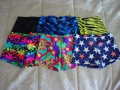 Womens Gymnastics Leotard Dance Cheer Spandex Shorts Size s M L XL | eBay