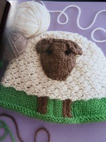 Sheep cap by Renee Lorion. Published in 60 Quick Baby Knits available on Amazon.com. This hat on Ravelry http://www.ravelry.com/patterns/library/sheep-hat-3