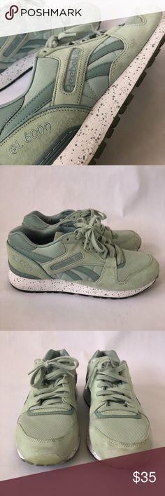 a03a28979410 Reebok GL 6000 Sneaker Mint green unique Reebok Sneaker. Minor scuffs on  the toe.