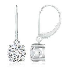 diamond solitaire drop earrings - Google Search