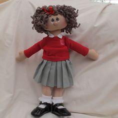 Rag Doll - Schoolgirl Susie, CUSTOM MADE. £27.50, via Etsy.