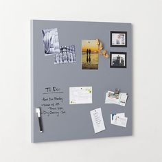 magnetic grey dry erase board | CB2