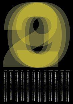 2009 calendar poster by pedro monteiro