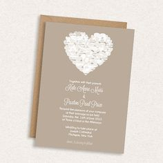 SAVE 20% // DIY Printable Wedding Invitation - Falling Hearts - Chalkboard - Simple - Modern - Hearts - The Kate
