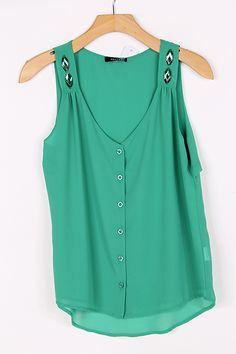 Chiffon Latika Top in Paris Green on Emma Stine Limited