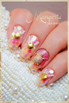 Happy new year ! Hope you will be more beauty in the new year ! O(∩_∩)O~ Today , i will share the nice nail art designs. Crazy Nails, Fun Nails, Mermaid Nail Art, Born Pretty Store, Design Show, Happy New Year, Coupon Codes, Nail Art Designs, Make Up
