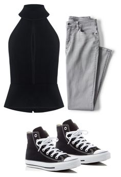 """Untitled #22"" by katherinewlfc on Polyvore featuring C/MEO COLLECTIVE, Lands' End and Converse"