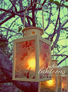 Craft Tutorial: Photo Lanterns  by decor8 :: love the way these look~ :3