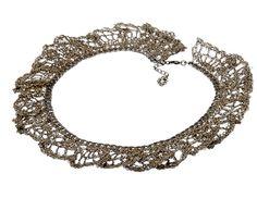 Black multiple chain necklace Urban crochet jewelry by inbarshahak, $228.00