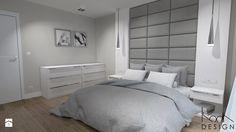 Projekt aranżacji wnętrz domu w zabudowie bliźniaczej w Szczecinie - Sypialnia, styl nowoczesny - zdjęcie od KODA DESIGN studio projektowe Dawid Kotuła