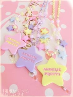 angelic pretty pastel beaded star necklace
