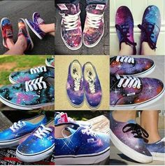 Cosmic sneakers more like galaxsy
