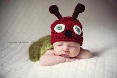crochet,photo prop,costume,baby,caterpillar by sandscrochet for $23.95