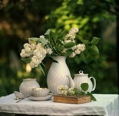 Tea outdoors...lovely...