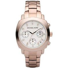 Michael Kors Rose Gold Stainless Steel Mop Dial With Crystals Chronograph Watch MK5336. Chronograph Watch. Crystals.