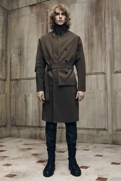 Reporting for duty in a tobacco trench, SIR! Balenciaga Spring 2016 Menswear