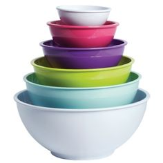 $59.95 Howards Storage World | Rhubarb Melamine Bowls with Lids. #howardsstorage #funky #useful