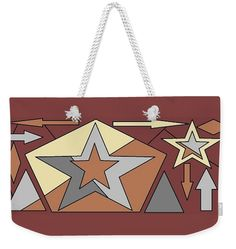 Weekender Tote Bag of Texas Stars 2' by Sumi e Master Linda Velasquez.