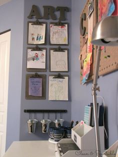 Create a fun and functional homework station for your kids!