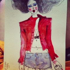 It girl. Watercolour.