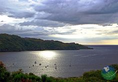 The Gulf of Papagayo in Guanacaste, Costa Rica. Costa Rica's Gulf of Papagayo is legendary for it's beautiful beaches and warm tropical waters.
