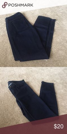 Dark Blue Soho Jeans Very comfortable. But they no longer fit. Great everyday jeans that can be dressed up or down. Curvy Skinny. Lots of stretch. 33 inch inseam. New York & Company Jeans Skinny