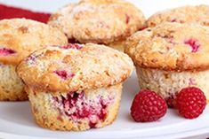 Muffins are great because you make one mixture and add whatever you like to it. Today, Cupcake Belle is sharing a special muffin recipe: Raspberry and White Chocolate Muffins! We hope you like them… Raspberry And White Chocolate Muffins, Lemon Raspberry Muffins, Rhubarb Muffins, Raspberry Rhubarb, Coffee Cake Muffins, Lemon Muffins, Mini Muffins, Apple Muffins, Applesauce Muffins