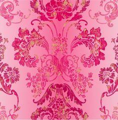 Pink wallpaper / Kashgar by Designers Guild