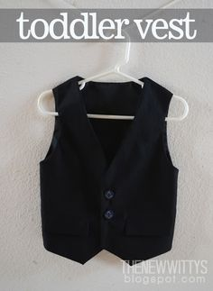 The New Witty's - toddler vest - sew - recycle - pattern - diy