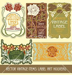 Label art nouveau vector by standart on VectorStock®