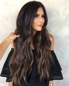 hair balayage # caramel # roots Karamell Balayage With . - Hårbalayage # rötter Caramel Balayage With Black Roots Caramel Balayage With Black Roots -