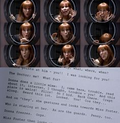 Partners in Crime script. I. love. Donna.  And this scene is probably my very, very favorite Doctor Who scene of everything I've seen so far.  I laughed like a damn fool.