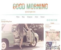 Premium Blogger template from Ello Themes.  Check out other awesome blog design resources + freebies in Friday Faves #12!