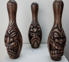 ROBBO DOOMSLAYER - AUST - CARVED BOWLING PINS