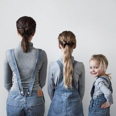 dungarees / mother and daughter photoshoot