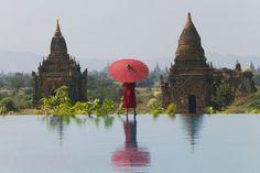 Monk, Birma Myanmar Bagan
