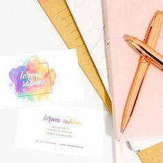 24809df997733c Explosão de cores! Criação de logo e cartão de visita para a psicóloga  Lorena Sabino