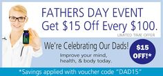 HGH.com's Fathers Day promotion for 2016 enables you to save $15 for every $100 that you spend on any of their bulking and cutting supplements.