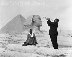 Louis Armstrong Plays For His Wife In Giza - 1961