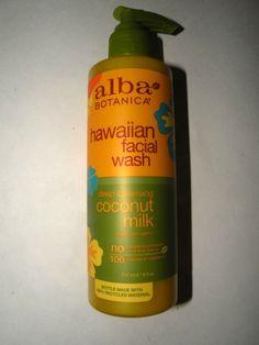 ALBA Botanica Hawaiian Facial Wash Coconut Milk Natural & Vegen NEW 8 oz. - Cleansers & Toners