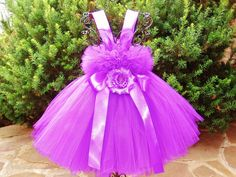 Tutu Dress PURPLE  Bit of Fluff Stretchy Bodice by ElsaSieron, $60.00
