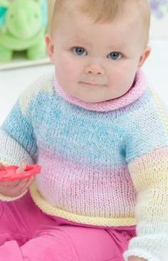 Easy Knitted Baby Pullover