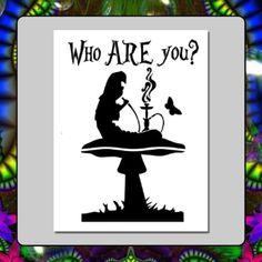 7-X-9-Alice-in-Wonderland-STENCIL-Who-ARE-you-Caterpillar-Hookah-Mushroom