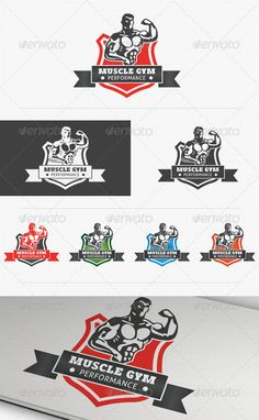 Fitness Performance Gym Logo — Vector EPS #body building #business • Available here → https://graphicriver.net/item/fitness-performance-gym-logo/3864698?ref=pxcr