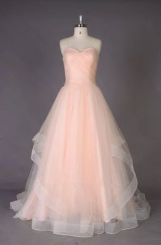 Cheap Pink Sweetheart A Line Wedding Dresses Long Bridal Dresses,AP565 - US 6 / Custom Color(Special instructions for seller)