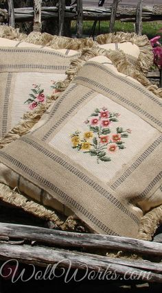 Vintage and Salvaged Needlepoint Pillows and Slips Home of the original Heirloom Needlepoint Pumpkin (tm) Cushion Embroidery, Embroidery Hoop Art, Custom Pillows, Decorative Pillows, Ruffle Curtains, Patchwork Cushion, Needlepoint Pillows, Sewing Pillows, Home Textile