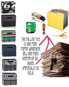 Thirty One Fold N File: It's time to end the paper chase. Create an easy and organized filing system you can live with.