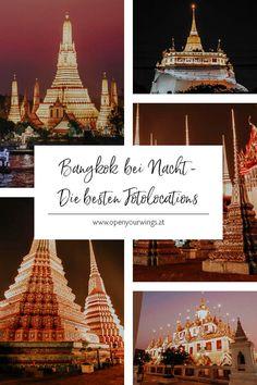 Du kennst das bestimmt, wenn du tagsüber eine Stadt besichtigst, bist du abends so erschöpft, dass du nur noch gemütlich zu Abend essen, duschen und ins Bett fallen möchtest. Aber gerade am Abend, wenn die Stadt zur Ruhe kommt und alle Lichter angehen oder nachts, wenn sie bereits schläft ist der beste Zeitpunkt, um eine Stadt von einer ganz anderen Seite kennenzulernen - ihrer magischen. Deshalb zeige ich dir Bangkok heute bei Nacht, mitsamt ihren schönsten Fotolocations. Ko Samui, Chiang Rai, Krabi, Tricks, Bangkok, Travel Inspiration, Hotels, Messages, Explore